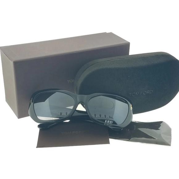 83ade44dcaef FT0460-01C Cat Eye Women s Black Frame Sunglasses